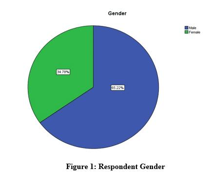figure 1 respondent gender pie chart