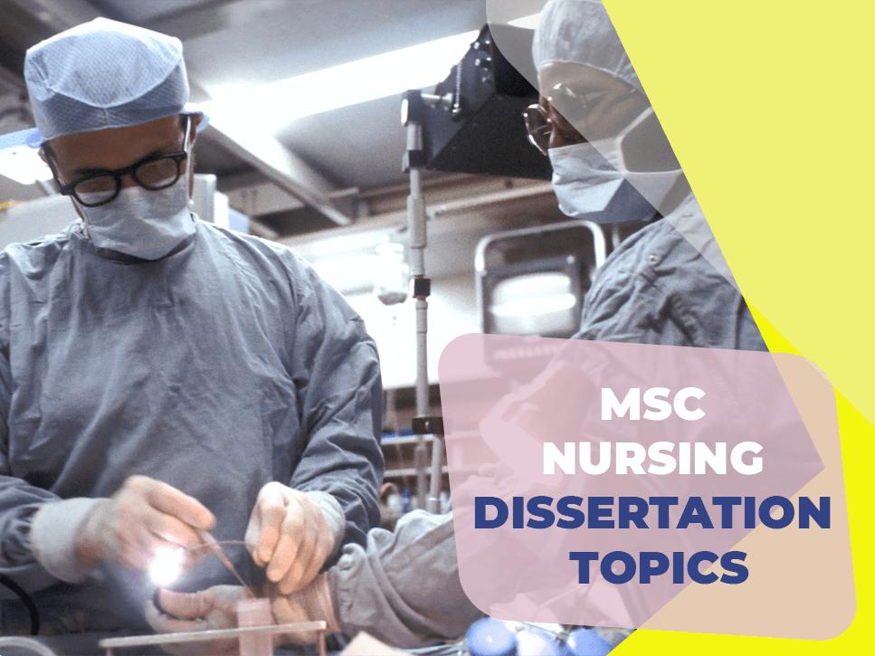 msc-nursing-dissertation-topics