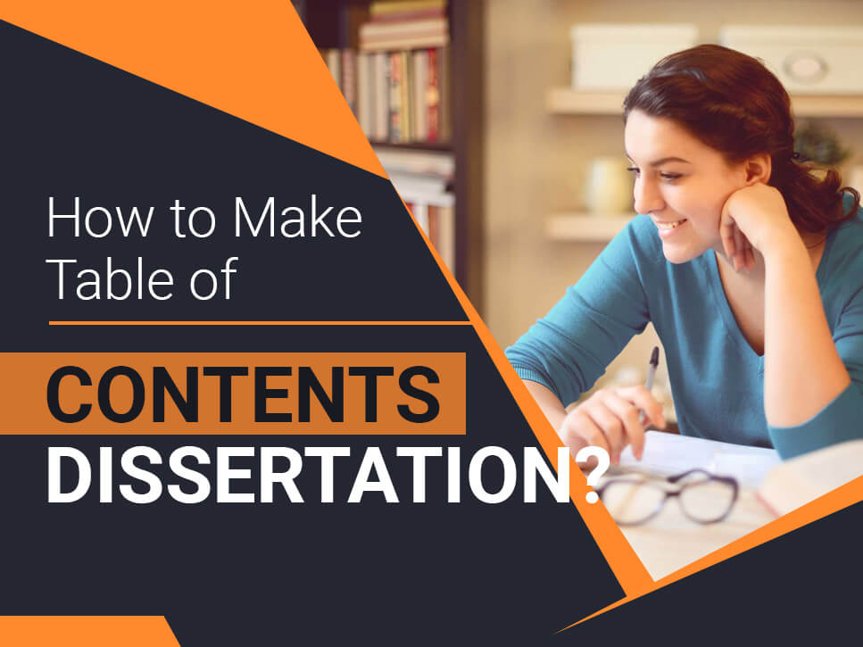 How to Make Table of Contents Dissertation
